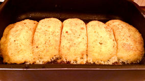 Chuletas de la patata con las setas Fotografía de archivo libre de regalías