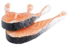 Chuletas de salmones, aisladas Fotografía de archivo libre de regalías