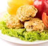 Chuletas y verduras Foto de archivo