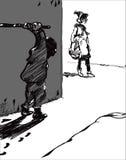 Chuligan I ofiara ilustracji
