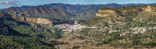 Chulilla, a village into the deep mountains of Valencia stock images