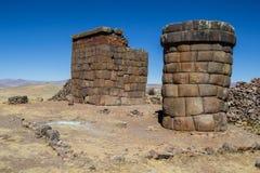 Chullpas de Cutimbo, cerca de Puno Foto de archivo libre de regalías