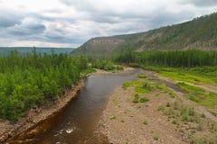 Chulmakan River Valley i Yakutia Royaltyfri Fotografi