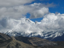 Chulu in the clouds, Nepal Royalty Free Stock Image