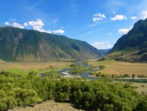 chulyshman горы Стоковые Фотографии RF