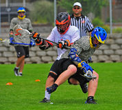 Chumash Lacrosse ball turnover Stock Images