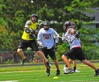 Chumash Lacrosse shot Royalty Free Stock Images
