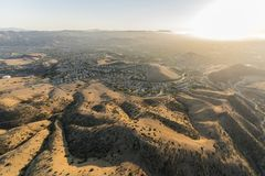 Chumash Park Aerial Simi Valley royalty free stock images