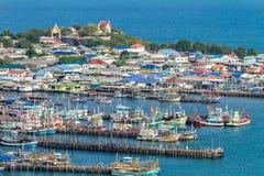 Fishing village. Chumphon, Thailand - August 12, 2017 fishing village Royalty Free Stock Image