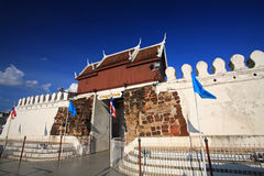Chumpol city Gate against blue sky in Korat Royalty Free Stock Images