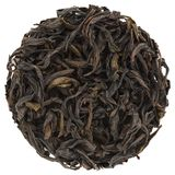 Chun Lan Wu Yi Mountain Rock Oolong Tea. Round shape Royalty Free Stock Image