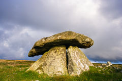 Chun Quoit Cornwall England UK. Believed to date to around 2400 years BC, Chun Quoit is one of the best preserved examples in Cornwall England UK Stock Image