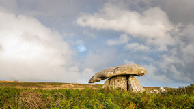 Chun Quoit Cornwall England UK. Believed to date to around 2400 years BC, Chun Quoit is one of the best preserved examples in Cornwall England UK Royalty Free Stock Image