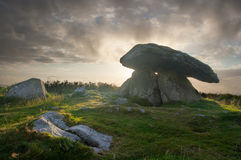 Chun Quoit Cornwall England UK. Believed to date to around 2400 years BC, Chun Quoit is one of the best preserved examples in Cornwall England UK Stock Photos