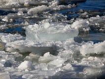 Chunck of ice floating Royalty Free Stock Photo
