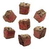 chuncks κρέας Στοκ Εικόνες