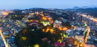 Chung Cheng Park during nighttime. Keelung, Taiwan Royalty Free Stock Photo