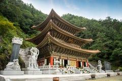 Chungcheongbuk-fa, la Corea del Sud - 29 agosto 2016: Tempio di Guinsa in montagne di Sobaek Fotografia Stock Libera da Diritti