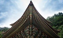 , Chungcheongbuk-tun Südkorea - 29. August 2016: Guinsa-Tempel in Sobaek-Bergen Lizenzfreie Stockfotos
