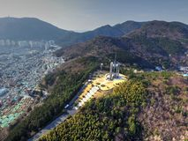 Chunghontap Pagoda in Central Park, Busan, South Korea, Asia royalty free stock images