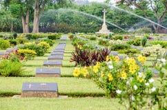 Chungkai战争公墓,泰国 库存图片