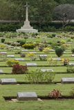 Chungkai war cemetery, where thousands of Allied POWs who died on the notorious Thailand to Burma death railway are buried. Chungkai war cemetery, where Royalty Free Stock Image