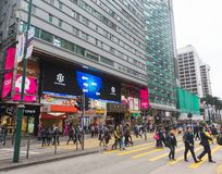 Chungking mansions facade in Hong Kong royalty free stock image