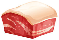 Chunk of pork with skin. Illustration Royalty Free Stock Photography