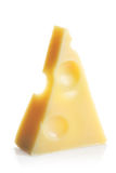 Chunk of Swiss cheese Stock Photo