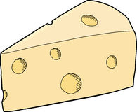 Chunk of Swiss Cheese Stock Image