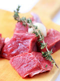 Chunks of beef meat Stock Photo