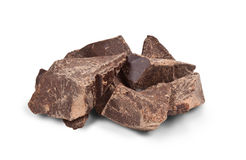 Chunks of Chocolate Royalty Free Stock Images