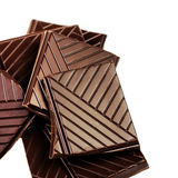 Chunks of a dark chocolate bar macro. Chopped Chocolate bars is Royalty Free Stock Photo