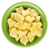 Chunks of dried pineapple Stock Image