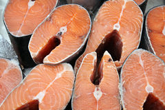 Pieces of salmon Stock Photography