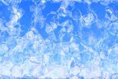 Abstract sky polygons. Chunks of ice falling from above Royalty Free Illustration