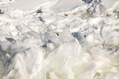 Chunks  of ice on frozen Lake Superior, Minnesota. Close up of ice chunck on frozen Lake Superior at Duluth, Minnesota Royalty Free Stock Image