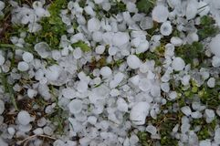Hail Storm Aftermath royalty free stock image