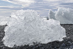 Chunks of ice in Iceland Stock Image