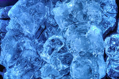 Chunks of ice lay on the ground Royalty Free Stock Image