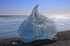 Ice chunks from the Jokulsarlon glacial lagoon, Iceland royalty free stock photo