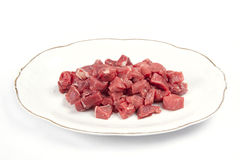 Chunks of lamb meat Stock Photo