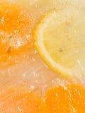 Chunks of lemon and orange Stock Photography