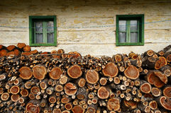 Chunks of wood Stock Photos