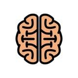 Chunky Brain Logo Illustration fresco ilustração do vetor