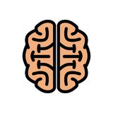 Chunky Brain Logo Illustration fresco ilustración del vector