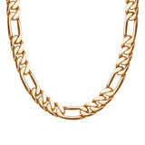 Chunky chain golden metallic necklace or bracelet Stock Photos
