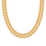 Chunky chain golden metallic necklace or bracelet Stock Photo
