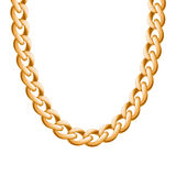 Chunky chain golden metallic necklace or bracelet Stock Image