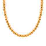 Chunky chain golden metallic necklace or bracelet Stock Photography